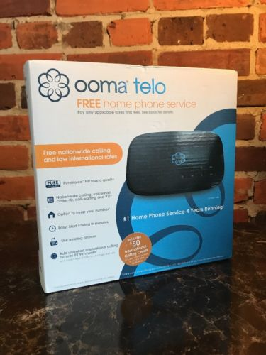 Ooma Telo Free Home Phone Service w/ $50 international Calling Credit NEW