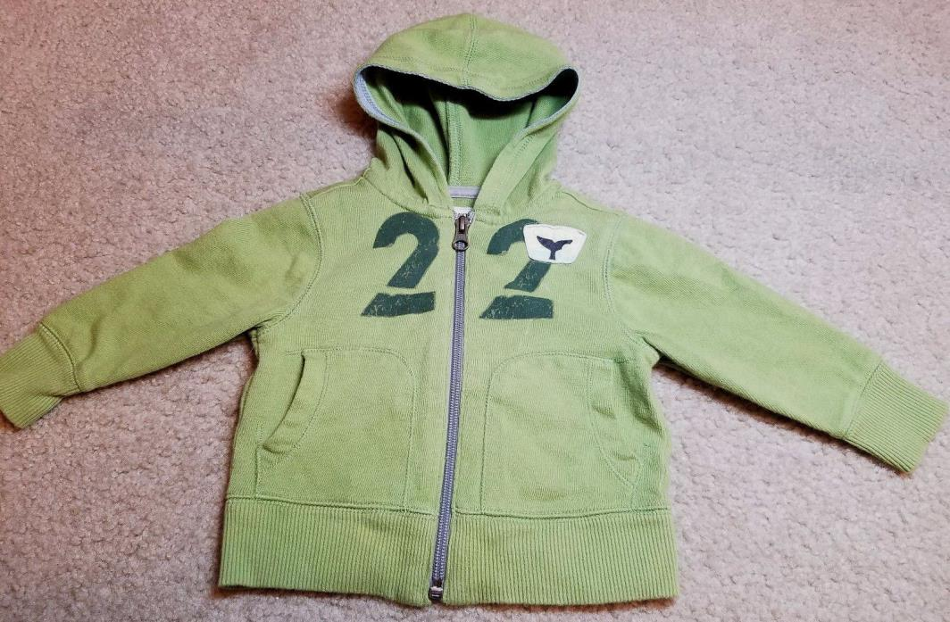 Old Navy Baby Boy Long Sleeve Zip Up Hooded Sweatshirt Jacket Size 6-12