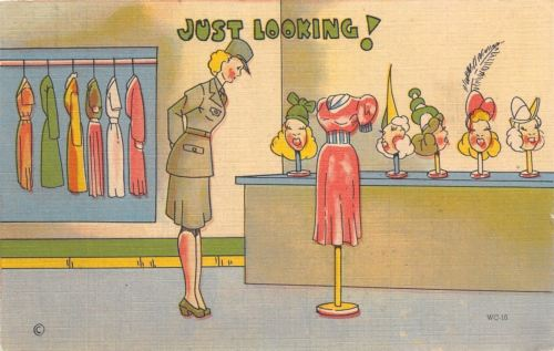 WACS WWII Military Comic~Womens Army Corp~Gal in Uniform Eyes Fashions~1943