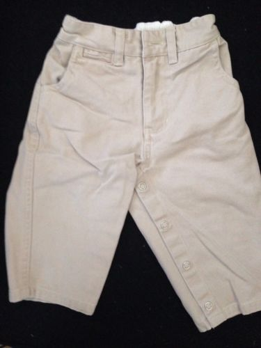 BabyGap Boys Khaki Jeans Pants Size 6-12 Months Medium Snap Legs   Tan