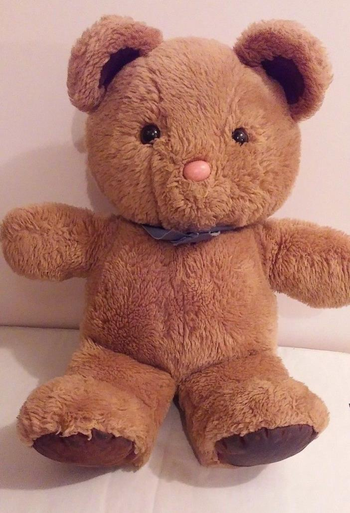 Vintage 1982 Dakin Teddy Bear with stuffed animal Brown Suede Plush free shippin