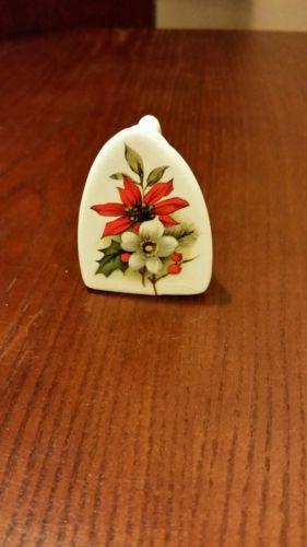 Miniature Ceramic Decorative Flat Iron Toothpick Holder 2 1/4