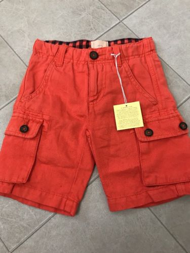 Mini Boden Size 4 Orange Shorts Boy Toddler Adjustable Waist Nwt