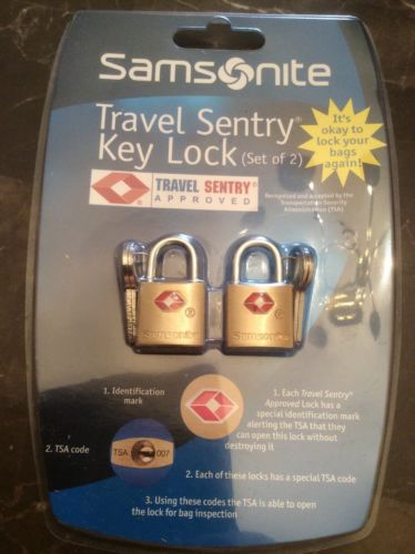 Samsonite Travel Sentry Key Lock  Set Of Two Sealed