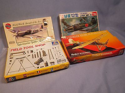 Airfix Italeri Heller Humbrol and LS Airplane Model Kits and Field Tool Shop Lot