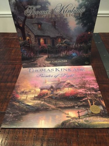 Rare Collectible Thomas Kinkade painter of light 2002 & 2003 Art Calendar