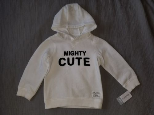 NWT Carter's MIGHTY CUTE Pullover Hoodie Sweatshirt, 24 Months.  *Free Shipping*