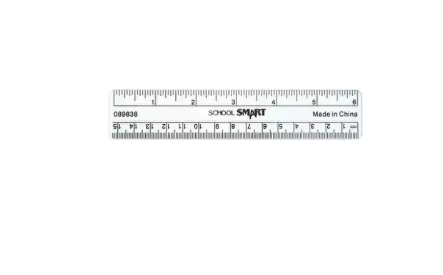 SCSP-089838-School Smart Plastic Ruler, Flexible, 6 in L, Clear Work Supplies
