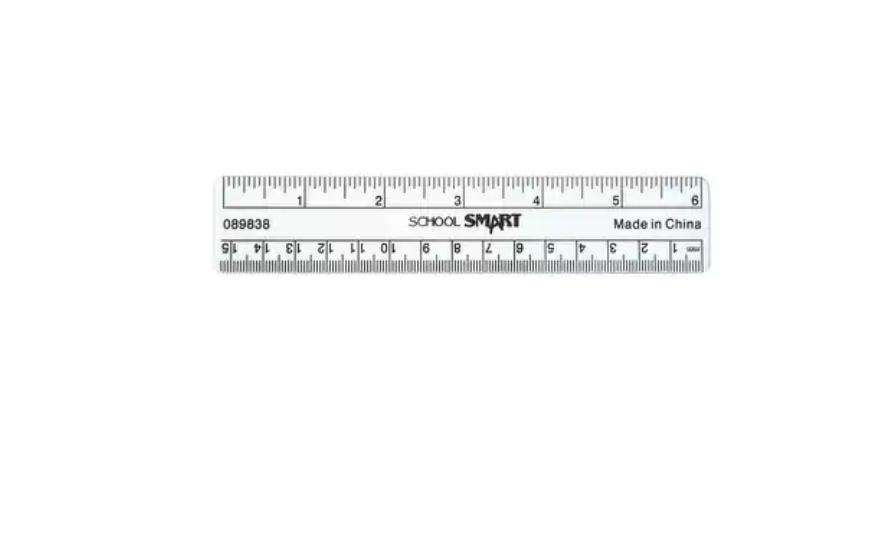 SCSP-089838-School Smart Plastic Ruler, Flexible, 6 in L, Clear Work Supplies