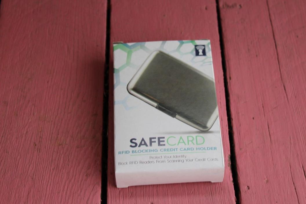 New SafeCard RFID Blocking Card Holder Case - Best Identity Theft Protection