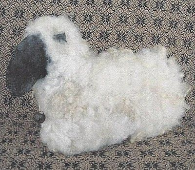 PATTERN Primitive Felted Sheep Doll Ornie UNCUT OOP Fine Country Living