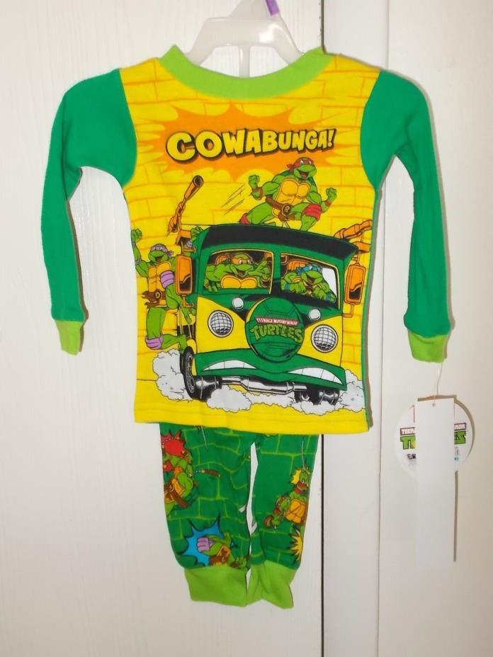 Boys Size 12 Months Nickelodeon TMNT 2-Piece Cotton Pajama Set NWT