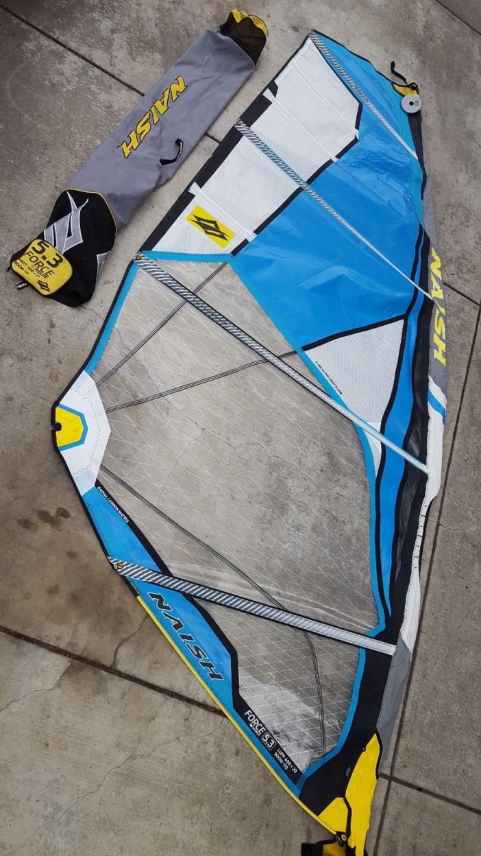 2015 Naish Force Four 5.3 windsurfing sail