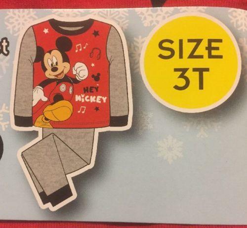 Disney Mickey Mouse Kids Pajamas 2 Piece SleepWear Set - Size 3T - NWT