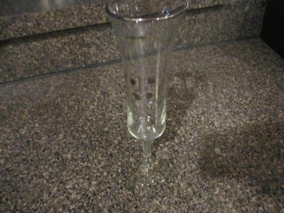 25TH WEDDING ANNIVERSARY WINE GOBLET CHAMPAGNE TOASTING GLASS / FLUTE