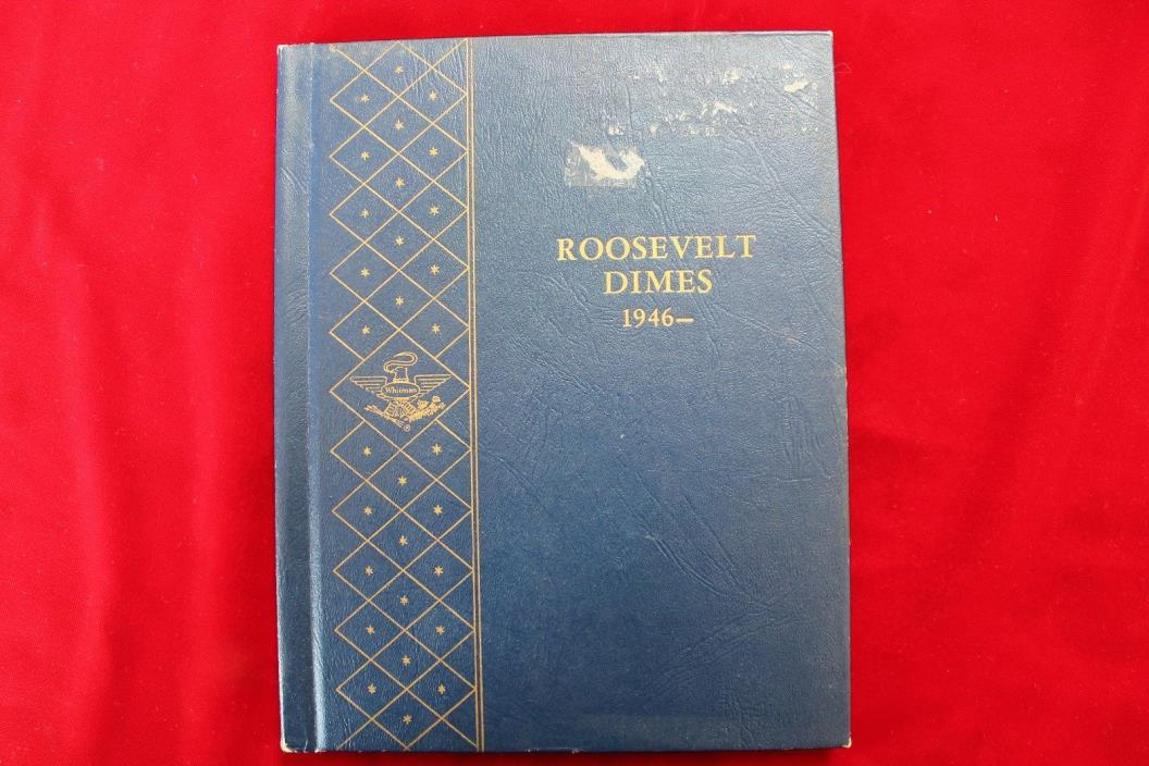 USED ROOSEVELT DIMES 1946-1964 WHITMAN 9414 COIN ALBUM, USED BUT PRICED RIGHT,#I