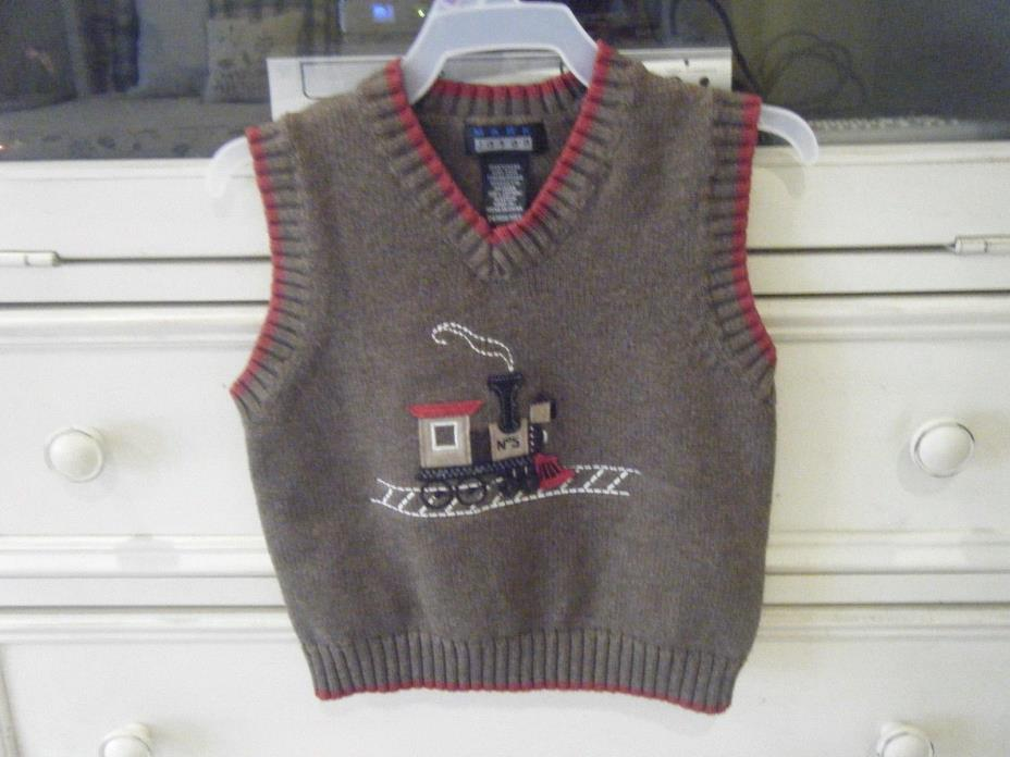 Mark Jason Sweater Vest Boys 24 M Train EC!