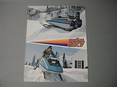 1973 Vintage Auto Ski Snowmobile Brochure