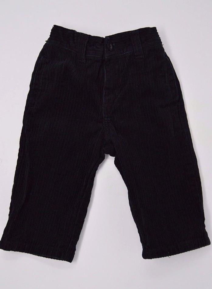GYMBOREE Boys Black Corduroy Pants Baby Toddler Size  3/6M