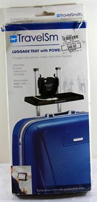TravelSmith Luggage Tray w Power Bank Charges Phones Tablets etc Compact Tray