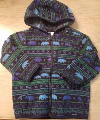 Gymboree GRIZZLY RIDGE Blue Bear Hoodie Fleece Jacket 4T NWT BOYS