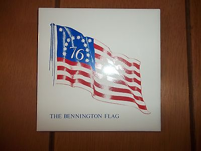 Screencraft Hand Decorated Ceramic Wall Tile THE BENNINGTON FLAG