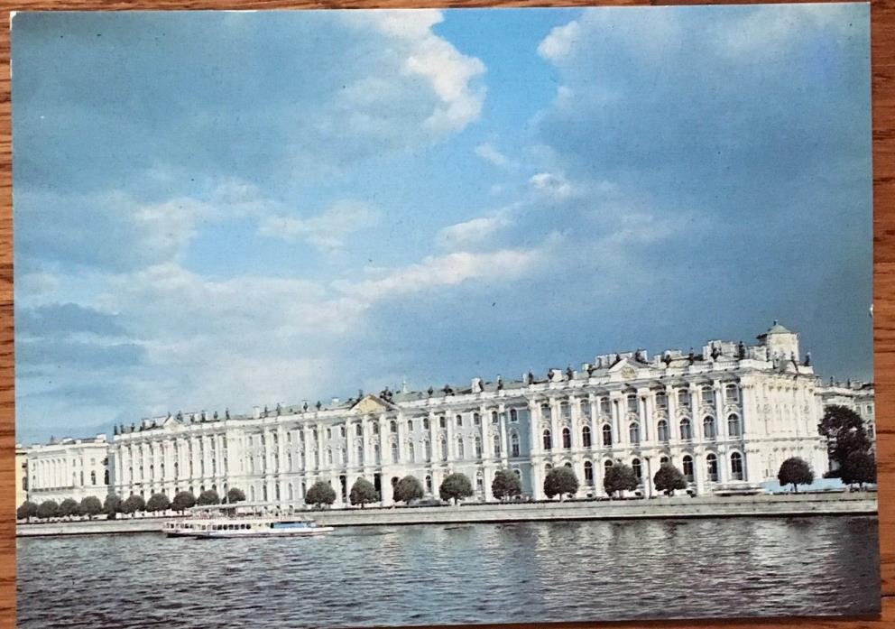 St Petersburg Russia Soviet Union Vintage Postcard The Winter Palace