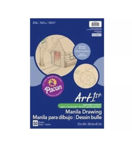 Pacon 12 x 18 Cream Manila Drawing Paper 50 Sheets