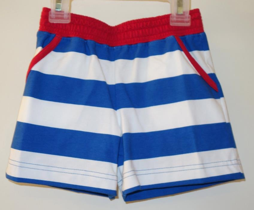 New Kelly's Kids Royal/White Rugby Stripe Daniel Knit Shorts ~ Boy's 12 Month