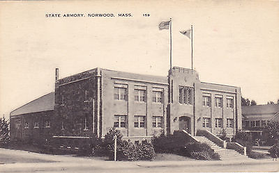 State Armory (Armoury) Norwood, Mass. American Art Post Card Co. (1915-1953)