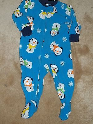 CARTER'S BLANKET SLEEPER INFANT BOYS 6M - SNOWMAN