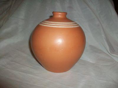 Unknown Pottery Alfar De Red Clay Vase Stripe
