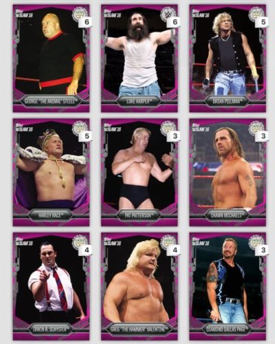 Topps DIGITAL 9 Pink Cards 768-784cc Steel-Page WWE Slam Card 2016
