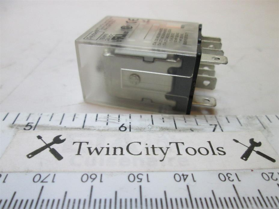 8 Pin Square Plug In Relay 24VDC 15A @ 120/277VAC New