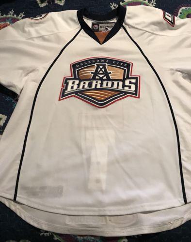 AHL Oklahoma City Barons Game Worn/Issued Hockey Jersey University of Alberta