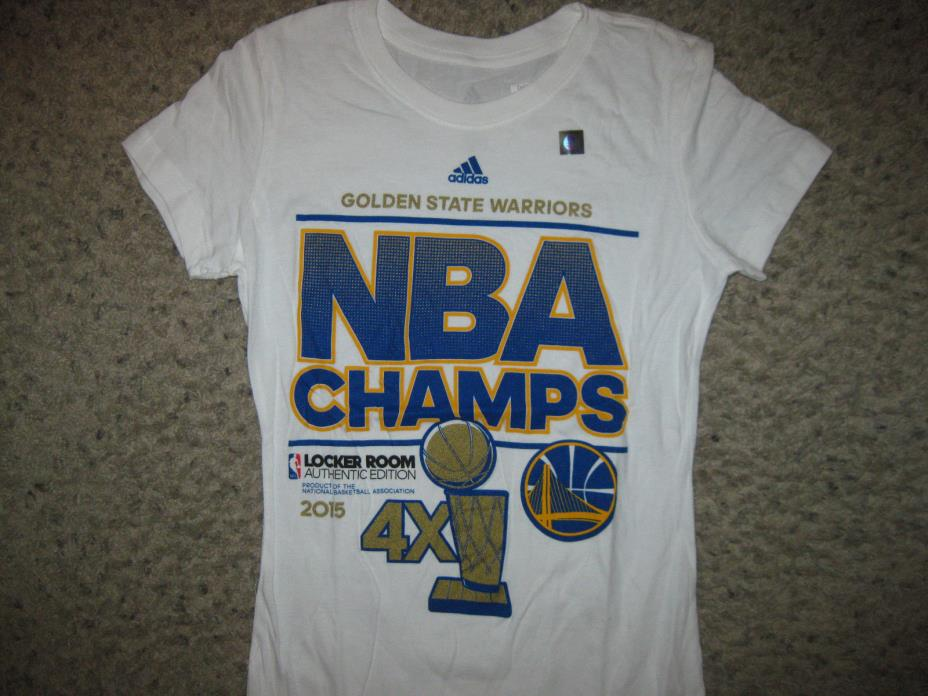 NEW Golden State Warriors 2015 NBA Champions T-Shirt Women's Adidas Ladies M !
