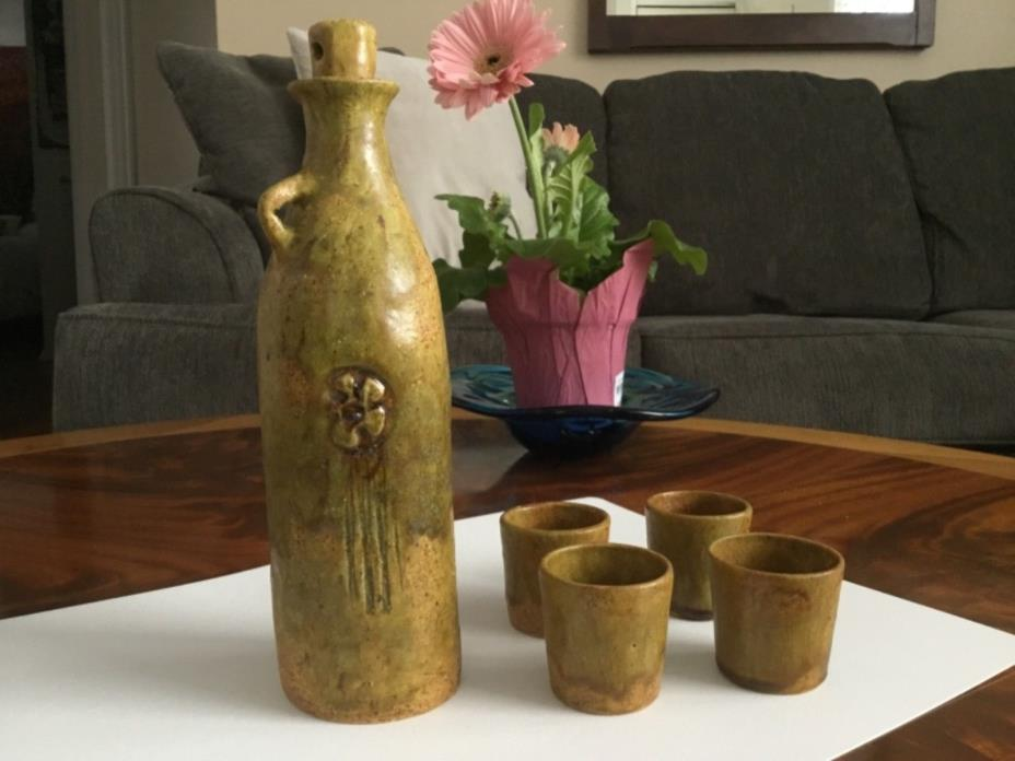 Quebec Pottery Anke Van Ginhoven, Sake Set, Beautiful!!!