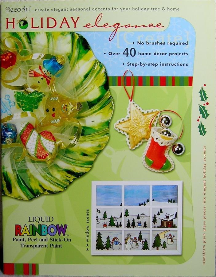 DecoArt 'Holiday Elegance' Liquid Rainbow Painting Book: Ornaments/Windows/Decor