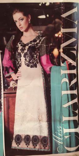 Salwar Kameez Black Pink Medium Sanulla Long Sleeve Shalwar Kameez