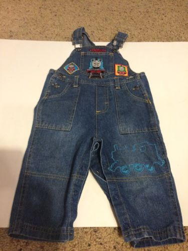 Thomas Train Overalls Boys Size 12 Months Engineer Overall Pants Denim Jeans