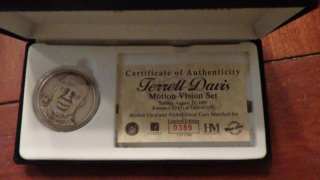 TERRELL DAVIS HIGHLAND MINT MOTION VISION SET NICKEL SILVER LIMITED EDITION