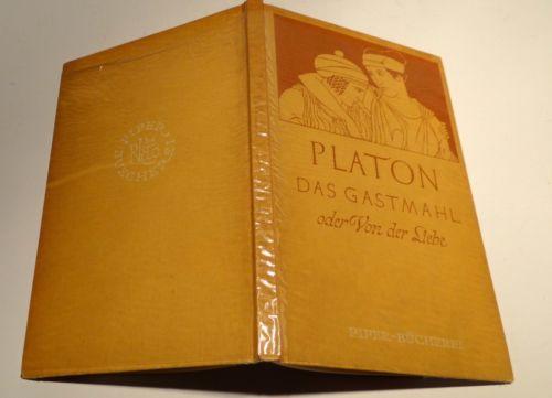 PLATON DAS GASTMAHL Oder Von der Liebe 1952 Arthur Hübscher