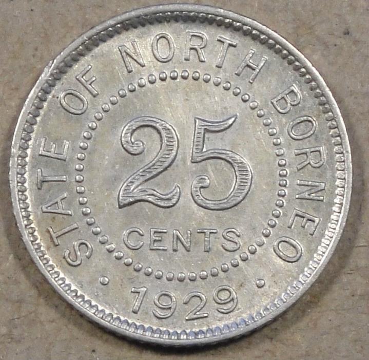 British North Borneo 1929-H 25 Cents AU