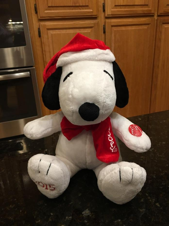 Peanuts Snoopy Merry Christmas Musical Holiday Plush Plays