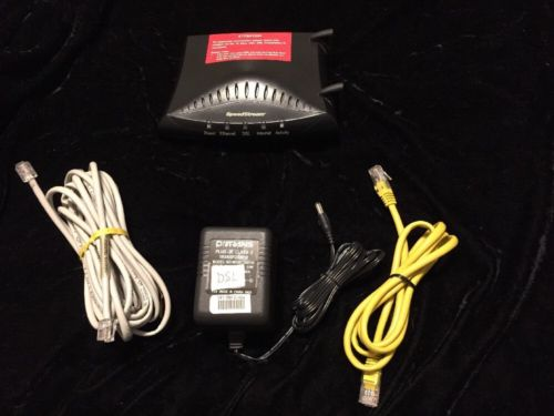 Efficient Networks SpeedStream 5100 Ethernet ADSL Modem w Cables - Ready 2 Go!
