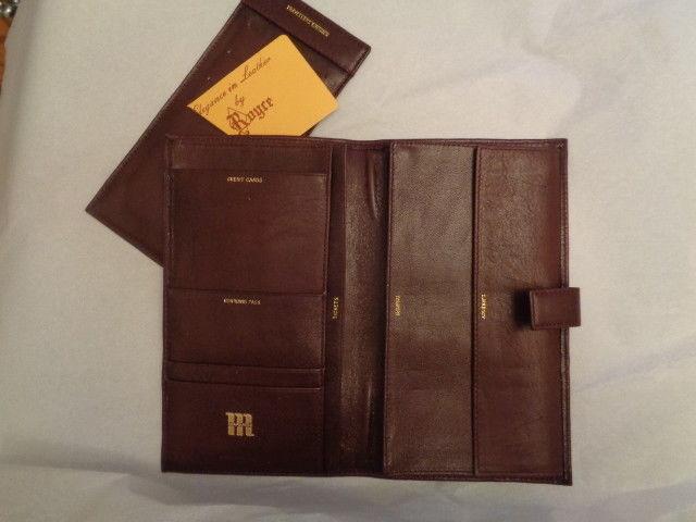 ROYCE Marmon elegant leather travel wallet organizer NWOB Valencia cowhide