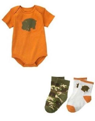 Gymboree Happy Hippo Bodysuit Socks 0 3 NWT