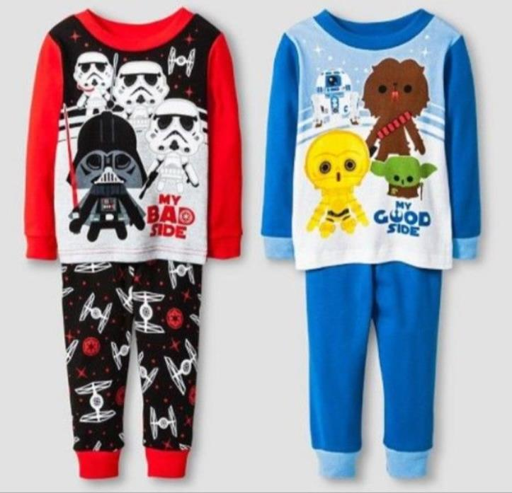 Star Wars PJs Set of 2 Child Sz 18M - NWT Pajamas - My Good Side / My Bad Side