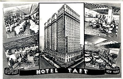 Old post card postcard Early 1900's Hotel Taft building and attractions unused