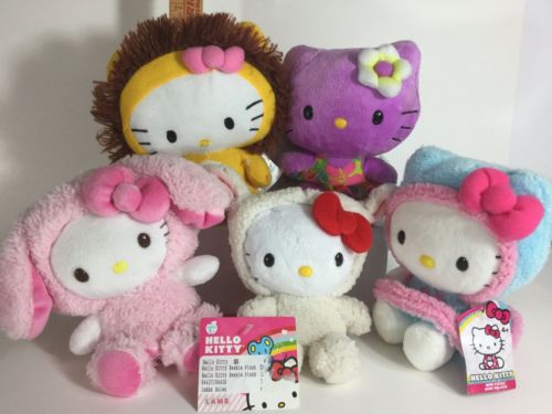Hello Kitty : Plush Bundle Pack (Set of 5) Hello Kitty Plush Lot